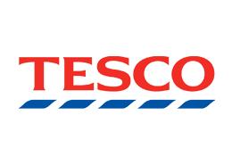 The logo of Tesco