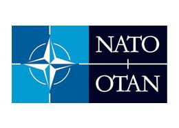 The logo of NATO