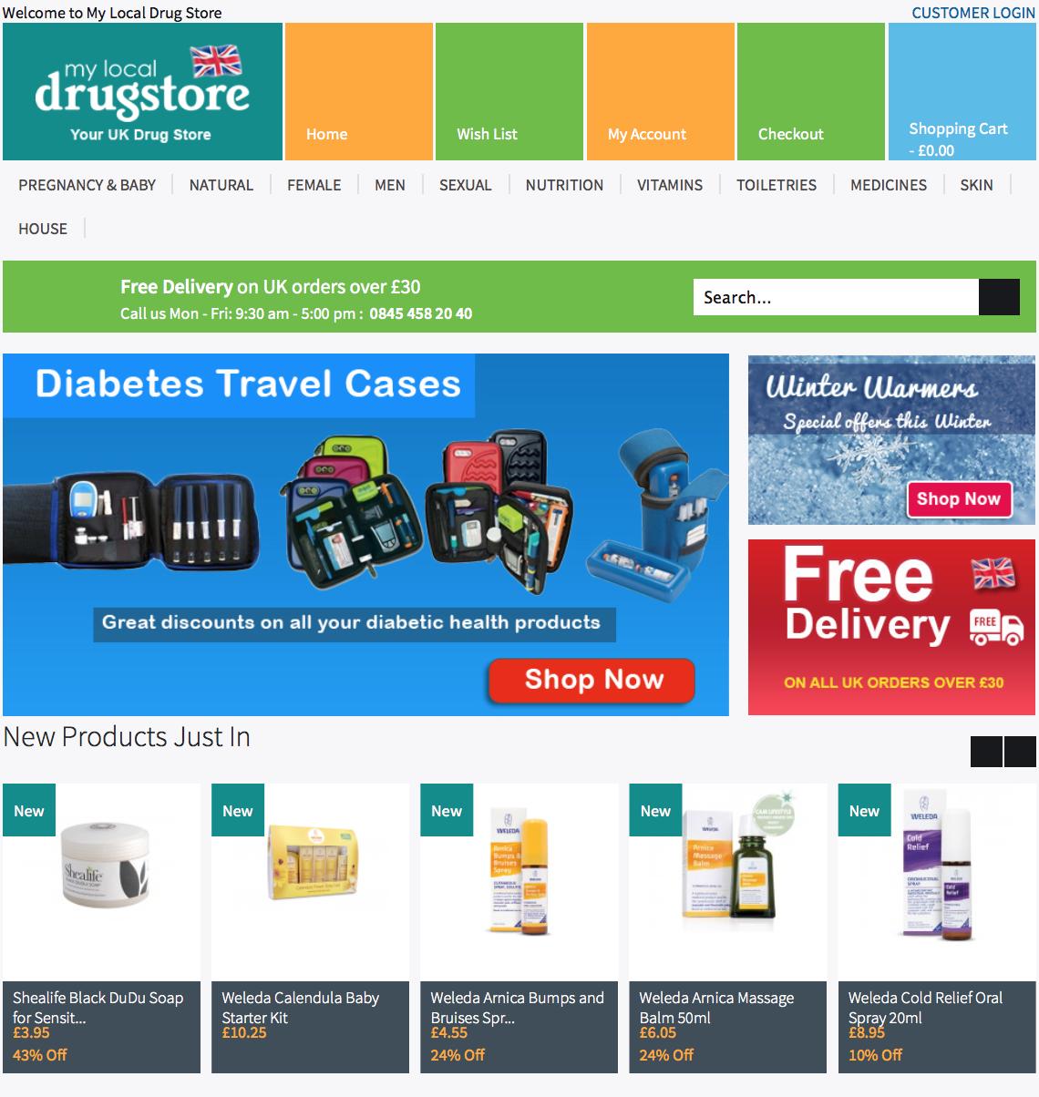 mylocaldrugstore.com screenshot