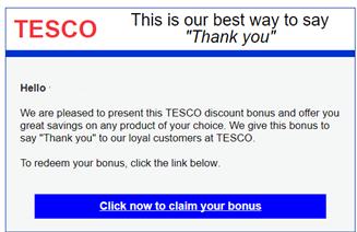 Tesco Bonus Spam